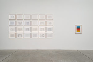 Installation photography, Frederick Hammersley: Paintings and Works on Paper