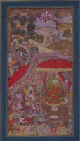 A Young Prince is Presented to the Emperor Babur<br>