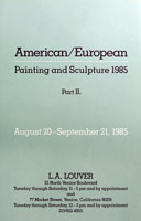 American/European Painting and Sculpture <BR>Part II announcement, 1985