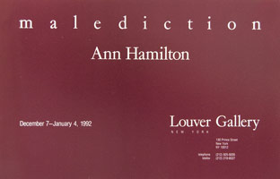 Ann Hamilton announcement, 1991