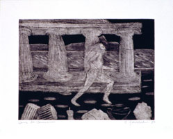 Charles Garabedian<BR>Prehistoric Figures, 1961 - 80<BR>etching<BR>22 1/2 x 29 3/4 in (57.15 x 75.6 cm)