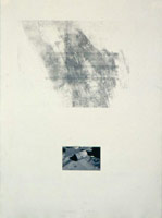 Robert Janz<BR>Changing Lines - Three Lines H.D.C., 1980<BR>etching and photograph on paper<BR>29 3/4 x 22 in (75.6 x 57.15 cm)