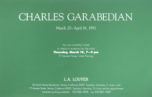 Charles Garabedian announcement, 1992