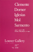 Francesco Clemente, Helmut Dorner, Cristina Iglesias, Peter Laurens Mol, and Juliao Sarmento, announcement, 1991