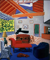 Montcalm Interior with 2 Dogs, 1989<BR>