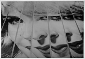 Billboard (multi-image of woman's face), 1960's<BR>