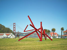 Di Suvero installation, Governor's Island, New York 2012 <br>