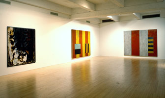 Ed Moses, Gerhard Richter, Sean Scully installation photography, 1991