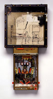Drawing for the Bronze Pinball Machine with Woman Affixed Also, 1982<BR>