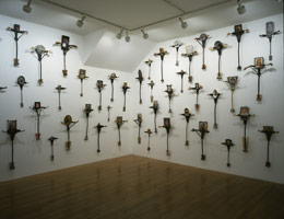76 J.C.s Led the Big Charade(installation detail), 1993 - 94<BR>