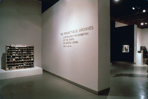George Herms<BR>Newport Harbor Art Museum installation photography