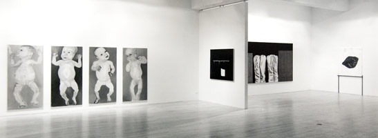 Inconsolable installation photography, 1990