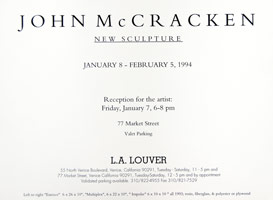 John McCracken announcement, 1994