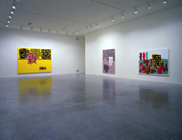Jonathan Lasker installation photography, 1995
