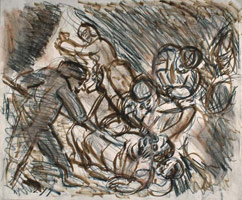 From Rembrandt: The Blinding of Samson<br>