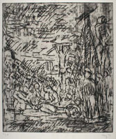 From Rembrandt: The Lamentation over the Dead Christ<br>