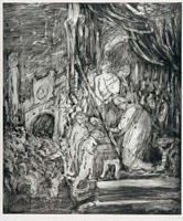 From Rembrandt: Ecce Homo<br>