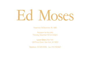 Ed Moses announcement, 1989
