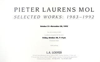 Pieter Laurens Mol announcement, 1992