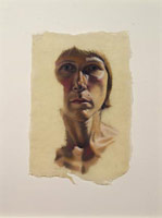 Sandra Mendelsohn Rubin<br> Self Portrait, 1989<br> pastel on rice paper <br> 16 x 11 in [40.64 x 27.94 cm]