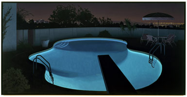 Night Pool, 1991<BR> oil on canvas<BR> 54 x 108 in (137.2 x 274.3 cm)<BR> Private collection