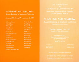 Sunshine and Shadow: Recent Painting in Southern California<BR>announcement, 1985