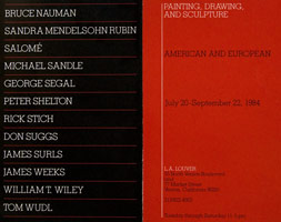 American/European Painting, Drawing and Sculpture Part I announcement, 1984