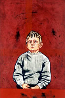 Tony Bevan<br>Portrait Boy, 1991<br>