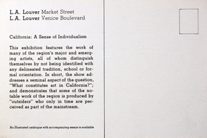 California: A Sense of Individualism Part I announcement, 1981