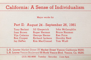 California: A Sense of Individualism Part II announcement, 1981