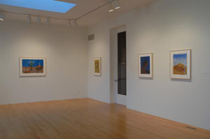 Installation photography, Charles Garabedian: New Works on Paper