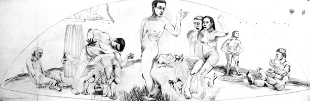 Mutants in a Landscape I, 1988<BR>