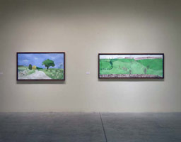 "Installation photography, David Hockney, ""Hand Eye Heart""<br>