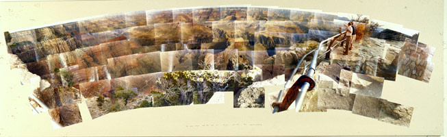 The Grand Canyon, South Rim, With Rail, Arizona, October 1982<BR>