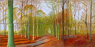 David Hockney<br>Woldgate Woods, 21, 23 & 29 November 2006, 2006<BR>