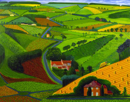 David Hockney<br>The Road Across the Wolds, 1997<BR>