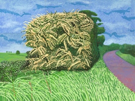David Hockney<br>The Big Hawthorne, 2008<BR>