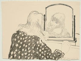 David Hockney<BR>Ann Combing Her Hair, 1979<BR>lithograph<BR>23 1/2 x 31 1/2 in (59.7 x 80 cm)