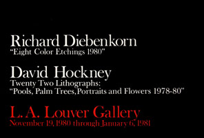 Richard Diebenkorn/David Hockney announcement, 1980