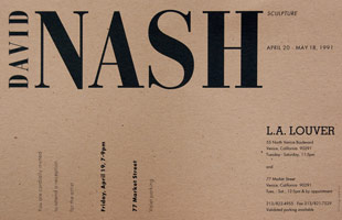 David Nash announcement, 1991