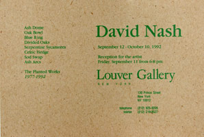 David Nash announcement, 1992