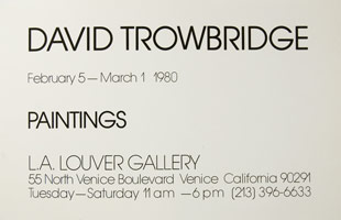 David Trowbridge Paintings announcement, 1980