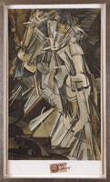 Marcel Duchamp / Nu descendant un escallier [Nude Descending a Staircase], December 1937 / Pochoir colored collotype / Paper Dimensions: 13 3/4 x 7 7/8 in. (34.9 x 20 cm)