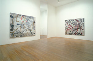Ed Moses Paintings<BR>installation photography, 1989