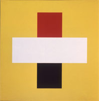 Home run, 1967<BR>oil on linen<BR>42 x 42 in (106.68 x 106.68 cm)<BR>Private collection