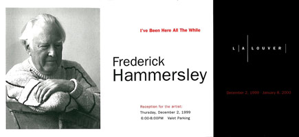 Frederick Hammersley announcement, 1999