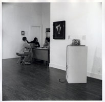 George Herms installation photography, 1976