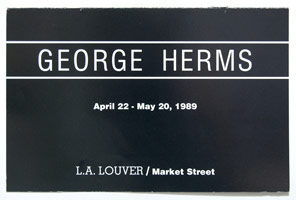 George Herms announcement, 1989
