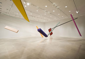 Installation photography, Joel Shapiro: New Installation, Rice University Art Gallery<BR>