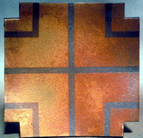 Amber Orange with Cross, 1983 - 85<BR>